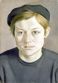 Lucian Freud ~ Girl with Beret, 1951-52