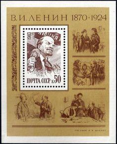 Urss 1983 - Bloco Lenin 113 Anos Nascimento - Personalidades - R$ 5,90 no MercadoLivre