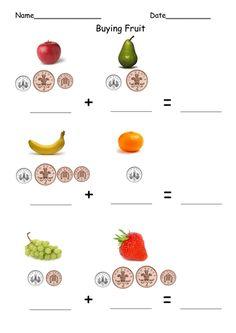 Adding 1p 2p 5p buying fruit