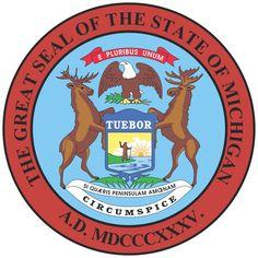 Michigan seal | Michigan State Flag&Seal [EPS Files]