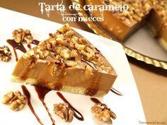 Tarta de caramelo con nueces