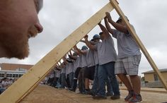 Poudre High School Geometry in Construction class builds Habitat for Humanity home in Fort Collins, CO.