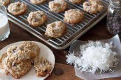 These Coconut Chocolate Chip Cookies are soft and chewy cookies with the perfect balance of chocolate and coconut to make for the perfect sweet treat