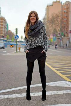 trendy_taste-street_style-look-outfit-black_skirt-falda_pantalon-zara-scarf-foul . Winter Outfits, Casual Outfits, Cute Outfits, Fashion Outfits, Womens Fashion, Fashion Trends, Fashion Fashion, Fashion Ideas, Vintage Fashion