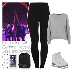 """""""Ice skating with Gemma, Krystal, Jess and Aimee"""" by lottieaf ❤ liked on Polyvore featuring Pieces, Topshop, Linda Farrow, OneDirection and gemmastyles"""