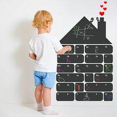 Chalkboard Alphabet House Wall Sticker