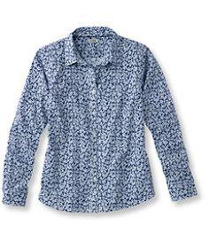 #LLBean: Women's Easy-Care Stretch Poplin Shirt, Floral