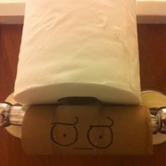REPLACE THE TOILET PAPER. REPLACE THE TOILET PAPER. OH MY GOD. Some day, I, the Paper Fairy, will not be there to save you when you realize OMG, THERE IS NO MORE TOILET PAPER BECAUSE I DIDN'T REPLACE IT AND MY WOMAN ONLY USES THE BATHROOM ONCE A DAY.