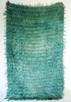 Sukan / vintage handwoven Turkish Kilim Carpet - natural wool