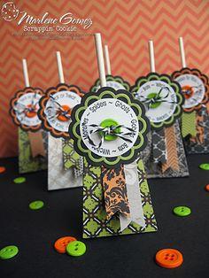 My Craft Spot: DT post by Marlene - Halloween Lollipop treat holders