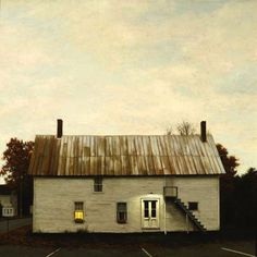 Anonymous building in Belfast, Maine.  Inspiration of artist Edward Hopper.