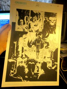 Original Comic Book Artwork CRUX  issue 22 Page 10 Steve Epting GREAT ART