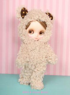 Brown Bear kigurumi suit for Middie Blythe, by Junie Moon