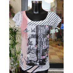T-shirt con la stampa manica corta PDK  Colore come nella foto. Tessuto molto leggero.  https://www.lorcastyle.it