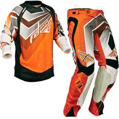 2014 Fly Racing Evolution Vertigo Kit Combo - Orange Grey Black