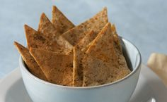 Greek Pita Chips - A lower-fat alternative to potato chips. Perfect for dipping!
