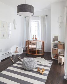 Modern baby nursery :: Love everything about this!