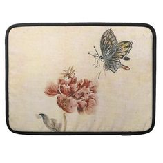 Vintage Bee, Butterfly and Poppy Watercolor