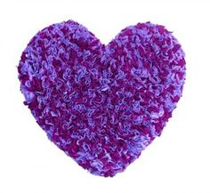 Purple Heart Rag Rug - Bunched two-tone purple synthetic fabric  Visit our family business...The Ginger Sheep. £14.99