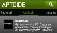 BlackBerry Aptoide, compatible con directorio de aplicaciones Android para BB10