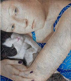 Painting by Vladimir Dunjić, 2014, Domaća mačka (Domestic Cat).
