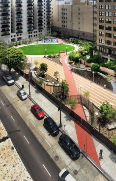 Lehrer Architects transformed two Los Angeles parking lots into the Spring Street community park, creating an urban oasis among the city's concrete structures. Read more: http://www.smithsonianmag.com/design-awards/Vote-for-the-Winner-of-the-2013-Peoples-Design-Award-222361091.html#ixzz2ebOWQNWs Follow us: @Smithsonian Magazine on Twitter