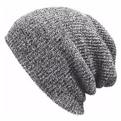 MIOIM Unisex Mens Knitted Baggy Beanie Hat Winter Oversized Ski Slouchy Skull Cap - Brought to you by Avarsha.com