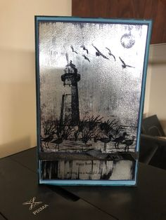 Black Ice technique using High Tide stamp set.