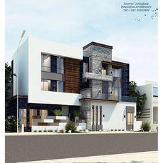 Villa Design, House Design, Render Design, Innovative Architecture, Modern Architects, Front Elevation, Townhouse, 3 D, House Plans