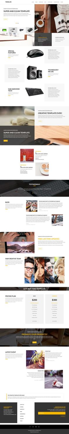 Tensilon - Creative Multi-Purpose HTML5 Template > This #Template is perfect for any type of Agency, #Freelancer, Portfolio, Photography, Corporate, Business and more. Its contains multiple Home variations, #Portfolio variations, Blog Pages with well-organized code.