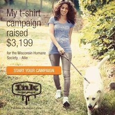 Wisconsin Humane Society's T-Shirt Campaign Raised $3,199. #tshirtsforgood