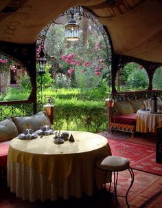 Riad Lamane Hotel in Zagora / Morocco (by ellenrichey). Table for two?