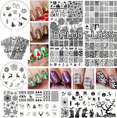 Nail Art BORN PRETTY Stamp Stamping Template Image Plate DIY Manicure #L001-L032 #BornPretty