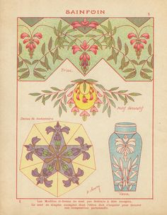 Drawing Journal, Art Journal Pages, Art Inspo, Art Nouveau Illustration, Art Nouveau Flowers, Propaganda Art, Pattern Coloring Pages, Art Nouveau Design, Lowbrow Art