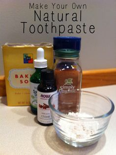 Make your own natural toothpaste with this simple recipe