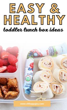 Get Lunch Ideas for Preschool - I've compiled a list of easy and healthy toddler preschool or daycare lunch ideas. If you are looking for easy toddler meals for preschool or daycare that your kid will actually eat, then look no further. Preschool lunch ideas include easy finger foods for toddlers and bentobox style lunch ideas for kids as well as hot lunch ideas for toddlers. Get your toddler to eat well at preschool! Healthy Toddler Lunches, Toddler Lunch Box, Toddler Finger Foods, Easy Toddler Meals, Kids Meals, Y Food, Food And Drink, Lunch Box Recipes, Lunch Ideas