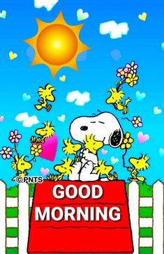 Good Morning Snoopy, Cute Good Morning Quotes, Morning Wish, Snoopy Love, Charlie Brown And Snoopy, Snoopy And Woodstock, Good Morning Greeting Cards, Morning Greetings Quotes, Hugs And Kisses Quotes