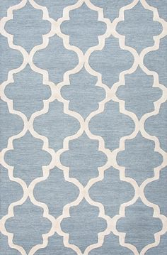 City Blue / Ivory Geometric Area Rug