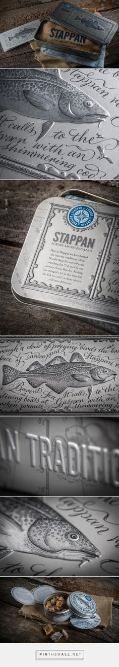 Stappan Luxury Salted Cod packaging design by Contagious - http://www.packagingoftheworld.com/2017/06/stappan-luxury-arctic-bacalao.html - created via https://pinthemall.net