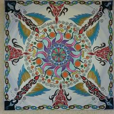 Mandala painting on canvas - Iris Waiz Art