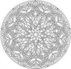 Mandala Madness: coloring page