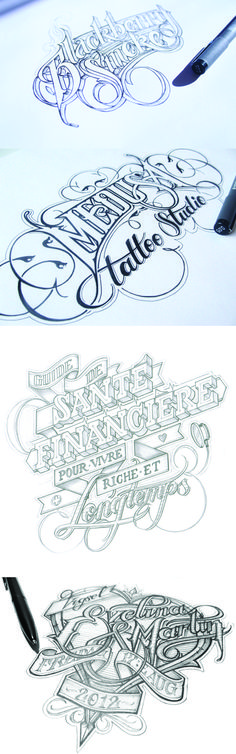 Gorgeous hand-drawn typography by Martin Schmetzer (http://www.martinschmetzer.com/)