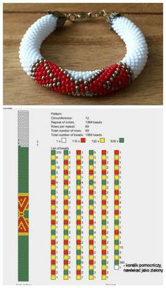 12 around bead crochet rope pattern Bead Crochet Patterns, Bead Crochet Rope, Crochet Bracelet, Beaded Jewelry Patterns, Beading Patterns, Beaded Bracelets Tutorial, Diy Bracelets Easy, Bead Loom Bracelets, Bead Jewellery