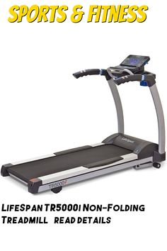 LifeSpan TR5000i Non-Folding Treadmill ... (This is an affiliate link) Folding Treadmill, Treadmills, Cardio, Gym Equipment, Training, Exercise, Link, Fitness, Sports