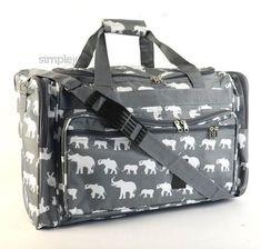 Monogrammed 22 Gray Elephant DUFFLE Bag by FashionateBoutique