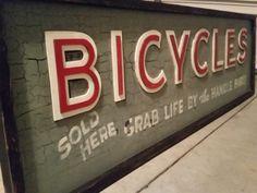 Vintage Bicycle Shop Sign - Todd Lindsay Designs
