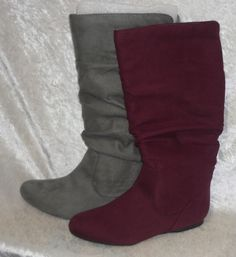 Arizona Slouch Boots Kenya Tall Faux-Suede solid Women's size 6, 7, 7.5, 8 NEW 39.99 http://www.ebay.com/itm/Arizona-Slouch-Boots-Kenya-Tall-Faux-Suede-solid-Womens-size-6-7-7-5-8-NEW-/331517611408?ssPageName=STRK:MESE:IT