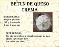Betun de Quesocrema Mexican Food Recipes, Sweet Recipes, Cake Recipes, Dessert Recipes, Desserts, Pulp Recipe, Icing Recipe, Cake Icing, Buttercream Frosting