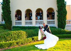 swooning bride at Marbella country club