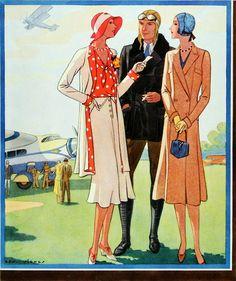 McCalls, 1930, fashion, vintage, styles, patterns, .